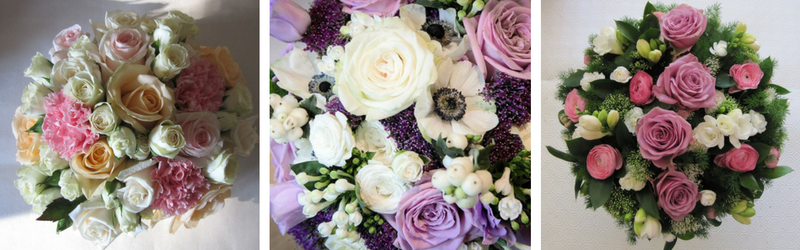 Pink and Purple Wedding Flowers Bouquets - The Floral Cellar